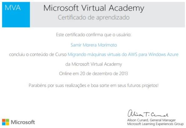 Migrando máquinas virtuais do AWS para Windows Azure