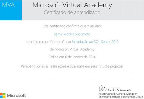 Introdução ao SQL Server 2012